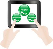 Digital tablet in hands over white background Royalty Free Stock Images