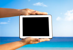 Digital tablet, holiday concept Royalty Free Stock Photo