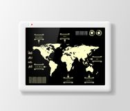 Digital tablet with infographics Stock Photography