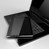 Digital Tablet with laptop Stock Images