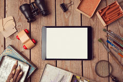 Digital tablet mock up for creative work or app design presentation Royalty Free Stock Photography