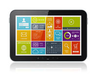 Digital tablet with modern UI Royalty Free Stock Photo