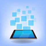 Digital Tablet pc with APP Royalty Free Stock Photo