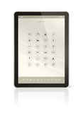 Digital tablet pc with apps icons interface Stock Photography