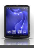 Digital Tablet Pc With Blue Screen. Royalty Free Stock Photos