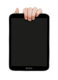 Digital tablet pc with hand Stock Photography