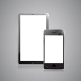 Digital tablet PC with mobile smartphone Royalty Free Stock Photo