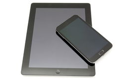 digital tablet pc and modern smart phone Royalty Free Stock Photo