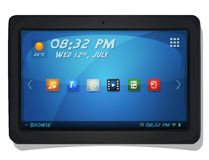 Digital Tablet PC With OS Icons Stock Photography