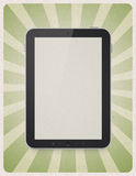 Digital tablet on retro background Stock Photo