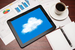 Digital tablet showing cloud Royalty Free Stock Photo