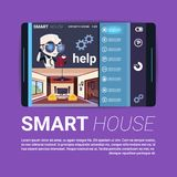 Digital Tablet With Smart House Control App Interface, Modern Technology Of Home Automation Concept. Flat Vector Illustration Stock Photos