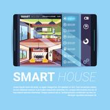 Digital Tablet With Smart House Interface, Modern Technology Of Home Automation Concept. Flat Vector Illustration Royalty Free Stock Image