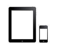 Digital tablet and smartphone Royalty Free Stock Photo