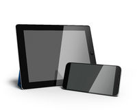 Digital tablet and smartphone 3d render isolated on white. Digital tablet and smartphone 3d render isolated on Stock Photo