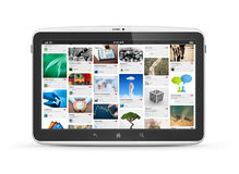 Digital tablet with social media website Royalty Free Stock Photo