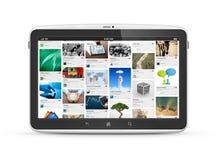 Digital tablet with social media website Royalty Free Stock Photo