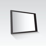Digital tablet standing on grey surface Stock Image