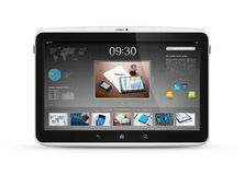 Digital tablet with start screen interface Stock Photo