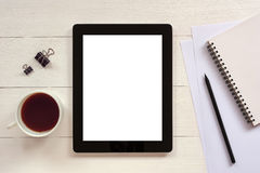 Digital tablet with white blank empty screen  Stock Photography
