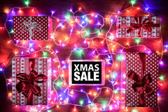 Digital tablet, Xmas Sale online shopping concept Stock Photo