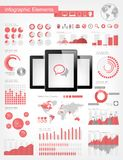 Digital Tablets Infographic Elements Stock Photo
