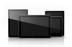 Digital tablets with touchscreens Royalty Free Stock Photography