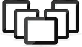Digital-Tablette PC-Set getrennt auf Weiß stock abbildung