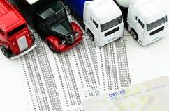 Digital tachograph print out day shift. Digital tachograph printed day shift with  lorry Royalty Free Stock Photos