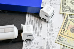 Digital tachograph print out day shift Royalty Free Stock Photography
