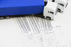Digital tachograph printed day shift Stock Photos