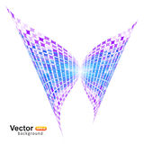 Digital tech butterfly Stock Images