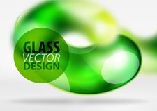 Digital techno abstract background, grey 3d space with glass curvy bubble. Digital green techno abstract background, grey 3d space with glass curvy bubble Royalty Free Stock Photography