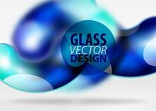 Digital-techno Zusammenfassungshintergrund, grauer Raum 3d mit curvy Glasblase Stockbilder