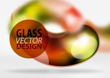 Digital-techno Zusammenfassungshintergrund, grauer Raum 3d mit curvy Glasblase Stockbild