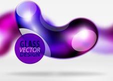 Digital-techno Zusammenfassungshintergrund, grauer Raum 3d mit curvy Glasblase Stockfoto