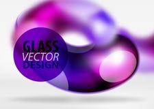 Digital-techno Zusammenfassungshintergrund, grauer Raum 3d mit curvy Glasblase Lizenzfreie Stockbilder