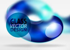 Digital-techno Zusammenfassungshintergrund, grauer Raum 3d mit curvy Glasblase Lizenzfreies Stockfoto