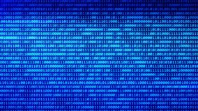 Digital technologies Blue Binary code random numbers glowing on a black background 2. You can use backgrounds for vfx, blog, vlogs, presentations, commercials vector illustration