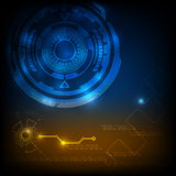 Digital technology abstract background. Glowing in the dark vector illustration