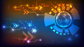Digital technology abstract background. Glowing in the dark stock illustration
