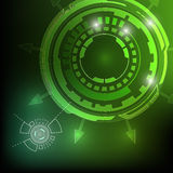 Digital technology abstract background. Glowing in the dark royalty free illustration
