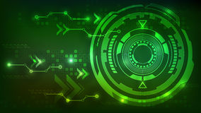 Digital technology abstract background green Stock Photos