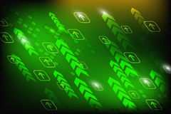 Digital technology abstract background green Stock Photography