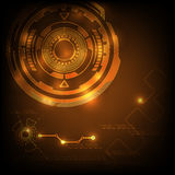 Digital technology abstract background orange Stock Photography