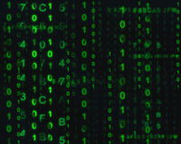 Digital technology and abstract binary code background Stock Images