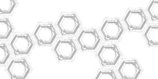 Digital Technology Background. Geometric Abstract Background With Hexagons. Science And Technology Design. Vector Illustration Royalty Free Stock Image