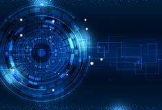 Digital Technology Blue Background Stock Image