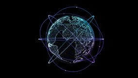 Digital technology connection of the Earth stock video