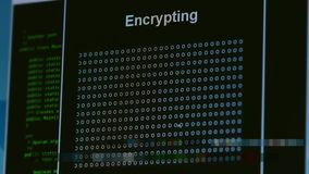 Digital technology data encryption can prevent hacker or information leak in matrix hidden information concept. Digital technology data encryption can prevent stock footage